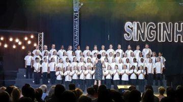 Nellie koor sing in Harmonie